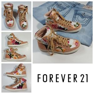 FOREVER 21 Floral Print High Tops
